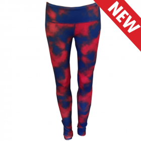 Blue & Red Cloud Team Tights