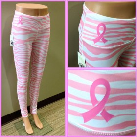 Pink and White Team Tights