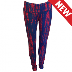 Blue & Red Snake Team Tights