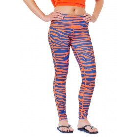 Navy & Orange Team Tights